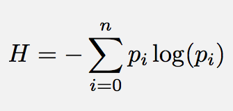 Entropy equation